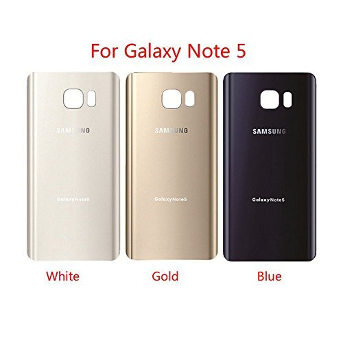 For Samsung Galaxy Note 5 OEM Rear Housing Back Case Battery Door Cover with Adhesive Pre-installed (White) Housing Cover Case