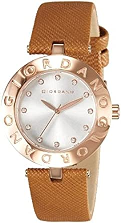 Giordano Analog White Dial Women's Watch - 2754-06