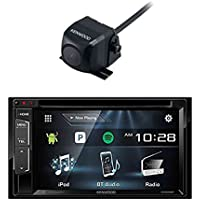 Kenwood DDX24BT Multimedia Bluetooth Receiver with Kenwood CMOS-130 Rearview Wide Angle View Backup Camera with Universal Mounting Hardware