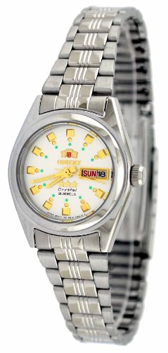 Orient #BNQ1X003W Women's Tri Star Silver Dial Automatic Watch
