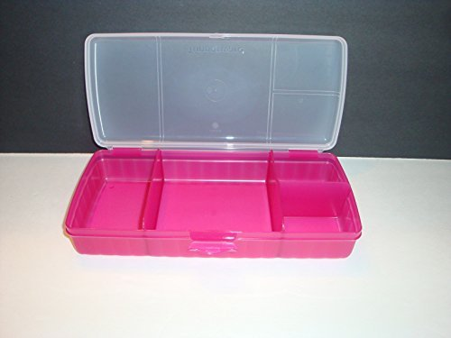 Tupperware Lunch N Things Plastic Lunch Box, 1.5  Litres, Multicolour