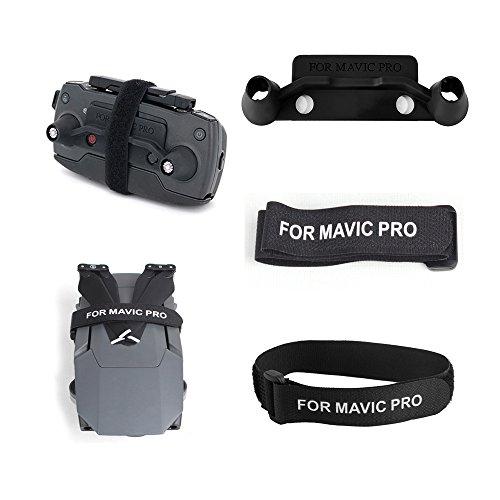 DJI Mavic Pro Remote Controller Joystick Protector Transport Clip Screen Rocker Protector Stick Guard Holder, Drone Quadcopter Fuselage Propeller Stabilizer Fixing Strap(DJI Accessories)-3PCS Black ()
