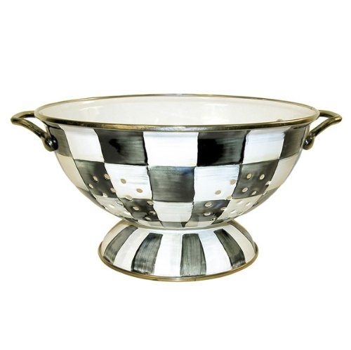 MacKenzie-Childs Courtly Check Enamel Colander Small by MacKenzie-Childs