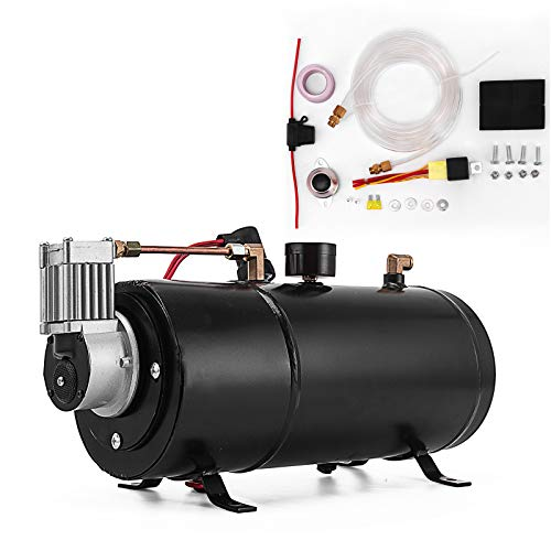 (Bestauto Air Horn Compressor Tank Pump 3 Liters Tank Air Compressorfor 120PSI 12V Portable Air Compressor Pump For Truck Pickup On Board)