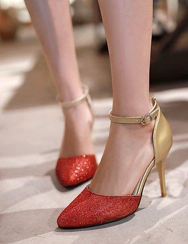 Ankel Gull Spiss Sølv Hæl Rød Shangyi Og Kvinners Strap Uformell Blå D'orsay Stiletto Sandaler Todelte Sko Rxaq0