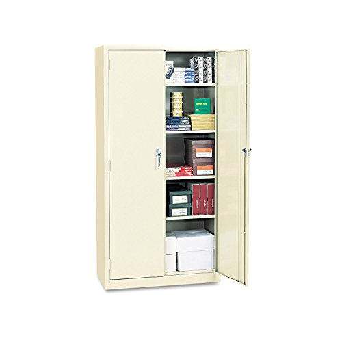 Alera ALECM7218PY Assembled 72'' High Storage Cabinet, w/Adjustable Shelves, 36w x 18d, Putty by Alera