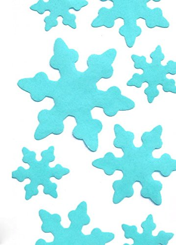 Decorating Snowflake Cookies (Pre Cut 36 Edible Cake Decoarations 3sizes Blue Snow Flake for decorating Cakes, Cookies, Cupcakes, Summer Wedding Cake and Dessert Toppers, Edible Wafer Paper Decorations)