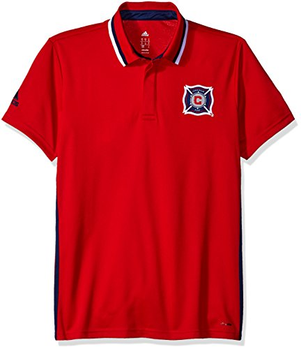 MLS Chicago Fire Men's Sideline Team Color Polo, Medium, - Store Polo Chicago
