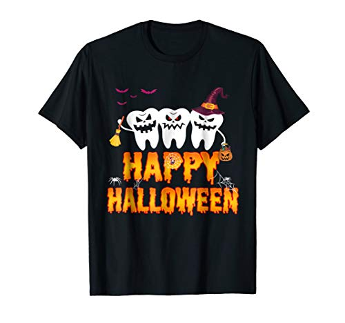 Funny costume DENTAL Halloween Shirt Pumpkin Dental T-shirt -