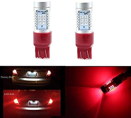 Red 7440 W21W 5050 SMD 27 LED Brake Turn Signal Rear Light Bulb Lamp