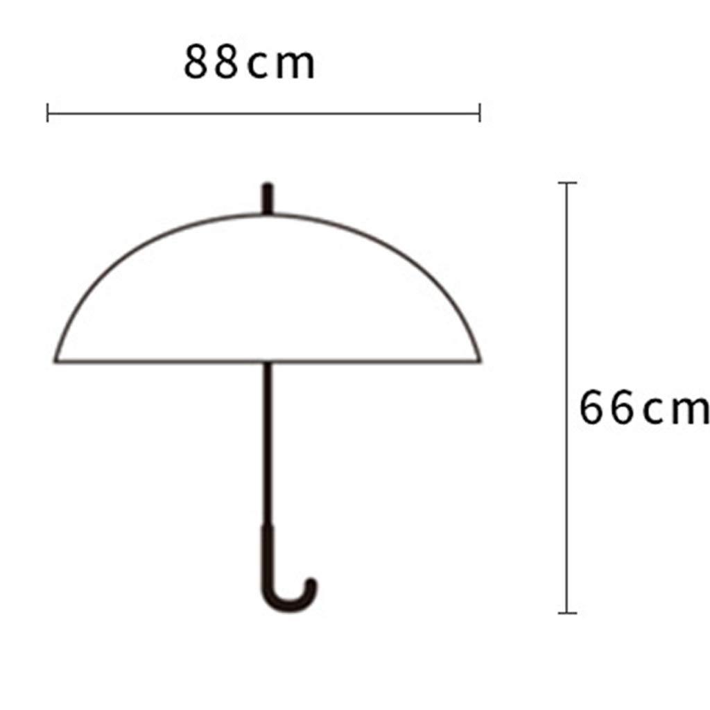 B/âton Clair Parapluie pour Les Filles et Les gar/çons Dessin anim/é Voir /à Travers/ Design Transparent Coupe-Vent Impressions Girafe Mignonnes
