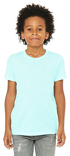 Bella Canvas Big Boys' Triblend Side-Seamed T-Shirt, Medium, Ice Blue (Big Kids Ice Blue Apparel)