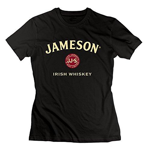 Women's Jameson Irish Whiskey Logo Cream 100% Cotton T-shirt (Irish Jameson 1780 Whiskey)