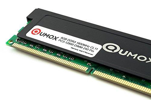 QUMOX 8GB DDR3 1600MHz PC3-12800 DDR3 1600 (240 PIN) DIMM Desktop Memoria para computadora escritorio PC