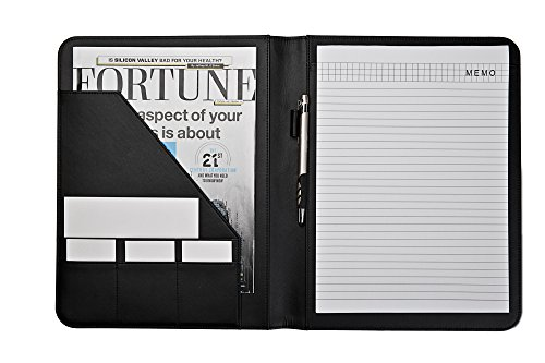 jancosta business padfolio portfolio with letter size writing notepads new black