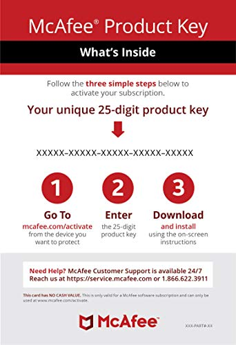McAfee Internet Security|Antivirus| 10 Device|1Year Subscription|  Activation Code by Mail |2019 Ready