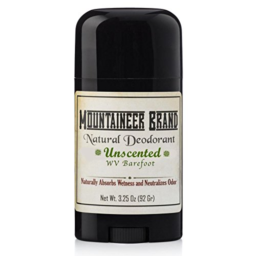 Natural Aluminum-Free Deodorant Stick by Mountaineer Brand | Stay Fresh With Nontoxic Ingredients | 3.25 oz (Barefoot Unscented)