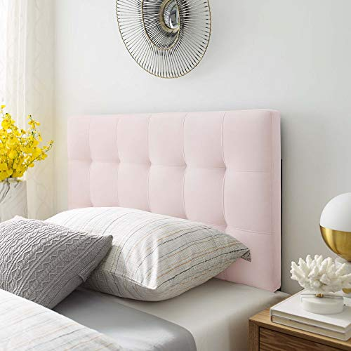 Modway Lily Biscuit Tufted Twin Performance Velvet Headboard, Pink (Pink Headboard Tufted Twin)
