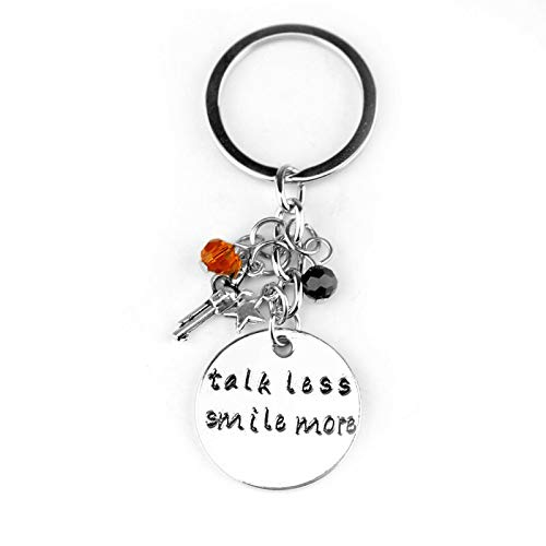 Talk Less Smile More Aaron Burr Alexander Hamilton The Musical Inspired Lyrics Hand Carved Necklace Charm Crystal -
