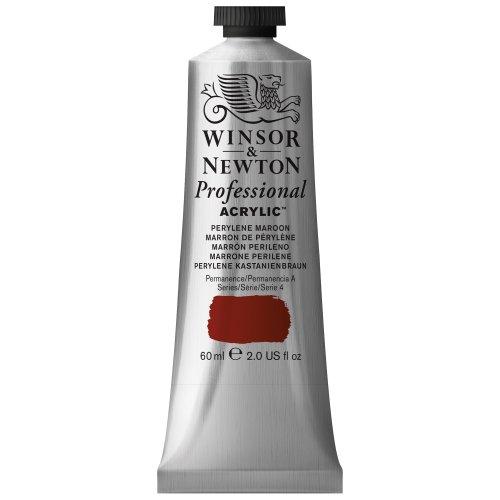 Winsor & Newton Professional Acrylic Color Paint, 60ml Tube, Perylene Maroon (Maroon Paint)