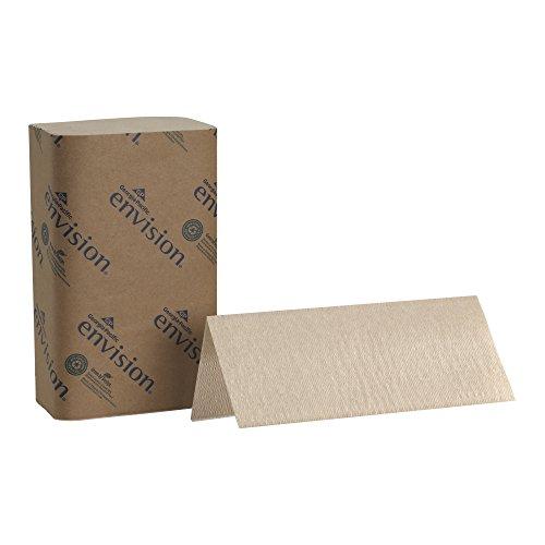 Georgia-Pacific Envision 23504 Brown Singlefold Paper Towel, 10.25' Length x 9.25' Width (Case of 16 Packs, 250 per Pack)
