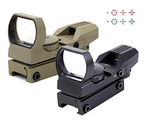Ohuhu Red Green Dot Gun Sight Scope Reflex Sight with  4 Reticles from Ohuhu
