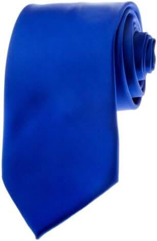 TopTie Mens Necktie Solid Color Royal Blue Ties, Formal Neck ties, Gift Ideas