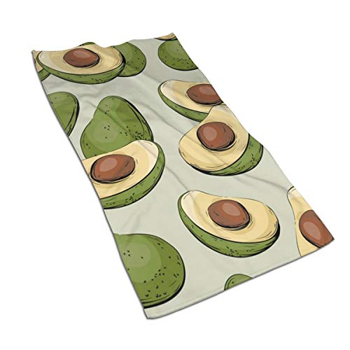 Gaojimaojin Avocado Half of Avocado Floral Print Kitchen Towel Dish Towel Hand Towel Stove Top Towel and Barbeque Towel by Mainstays 28 X 18 Inch