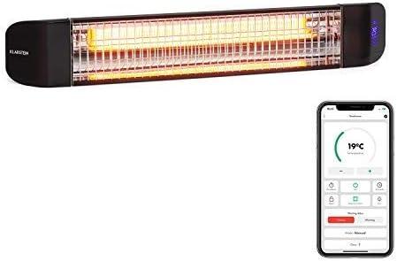 Klarstein Smartwave – Infrarot-Heizstrahler Terrassenheizstrahler, IR ComfortHeat, Carbonfaserröhre mit 2400 W, Thermostat, Multicommand:…