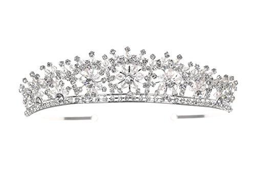 Handmade Bridal Snowflake Rhinestone Crystal Prom Wedding Tiara Crown T1125 by Venus (Snowflake Wedding Accessories)
