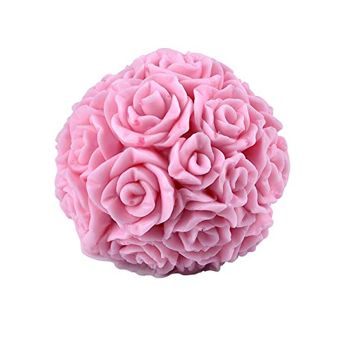 Silicone Candle Mold 3D Rose Ball Aromatherapy Candle Soap Mould Craft Resin Clay Decorating Tool