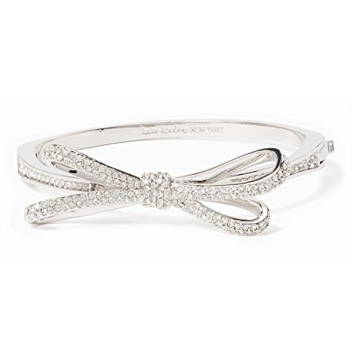 Bracelet Bow (Kate Spade Tied Up Pave Bow Bangle, Silver-Tone)