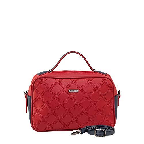 Bolsa Pequena De Mão Vermelha Com Relevo