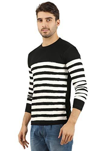 THE ARCHER Striped Men #39;s Round Neck T Shirt