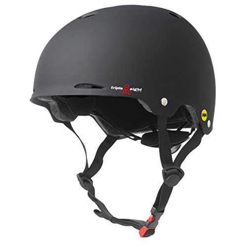 Triple Eight Gotham Helmet with MIPS, Black Rubber, S/M