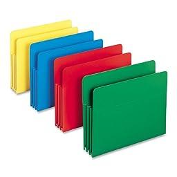 Smead Poly File Pocket, Straight-Cut Tab, 3-1/2\
