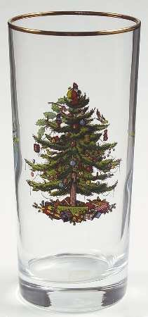 (Spode Christmas Tree-Green Trim 12 Oz Glassware Highball, Fine China Dinnerware)