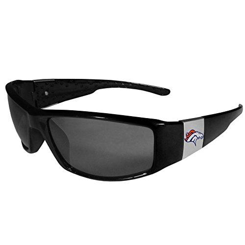 Siskiyou NFL Denver Broncos Unisex Sportschrome Wrap Sunglasses, Black, One Size (Denver Broncos Sunglasses)