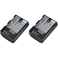 LP-E6 Battery for Canon 5D Mark II, 5D Mark III, 6D, 7D, 7D Mark II, 60D, 70D, 80D Camera and BG-E6 Grip, BG-E7 Grip, BG-E9 Grip, BG-E11 Grip, BG-E13 Grip, BG-E14 Grip ( 2-Pack )