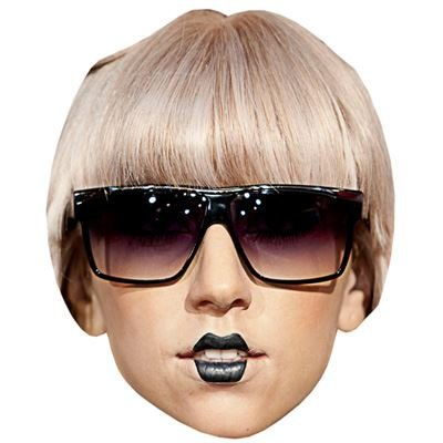 Lady Gaga (Glasses) Celebrity Mask, Cardboard Face and Fancy Dress Mask