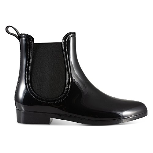 Black Twisted Women's Rain Style Chelsea Molloy Boots Ankle HFHxCg