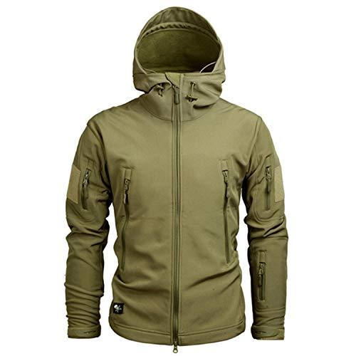 SeaAIESM Freezing Clothing Autumn Men's Military Fleece Jacket Army Tactical Clothing Multicam Male Windbreakers,Small,Khaki