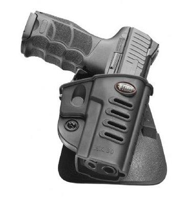 Fobus Tactical HK-30 LH HECKLER & KOCH Standard Left Hand Conceal Carry Polymer Paddle Holster For H&K P30, Walther PPQ - Black