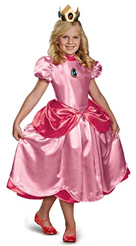 Nintendo Super Mario Brothers Princess Peach Deluxe Girls Costume, Medium/7-8