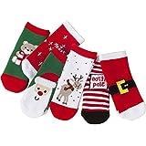 vanberfia Unisex Baby 6pairs Baby Kids Cartoon Christmas Holiday Toddler Children's Socks (M/1-3years, BXB070)