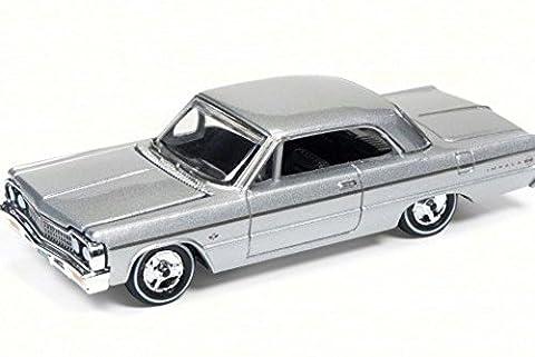 1964 Chevy Impala, Satin Silver - Round 2 RC002/48B - 1/64 Scale Diecast Model Toy Car
