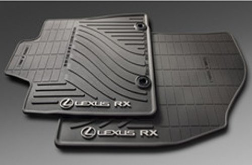 LEXUS OEM FACTORY ALL WEATHER FLOOR MAT SET 2013-2015 RX350 & RX450H BLACK