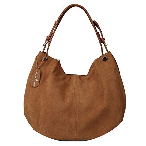 de Leather Hobo Bag New Design Female Leisure Large Shoulder Bags Shopping Casual Handbag,Yewllow Brown ()