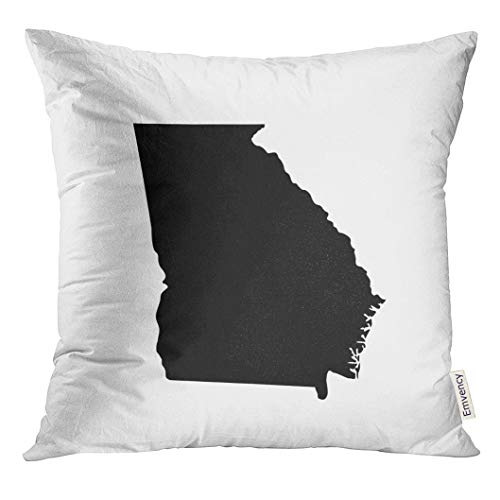Emvency Throw Pillow Cover Shape Map of The U State Georgia Abstract Decorative Pillow Case Home Decor Square 18x18 Inches Pillowcase