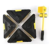 5PCS Furniture Lifter Movers Triple Wheels Mover Sliders Tools Kit Home Moving System Max Up to 661 Lbs for Clean House Move Sofas Couches, Refrigerators and Heavy Things